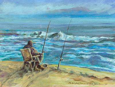 Granger Royalty Free Images - Surf Fisherman Royalty-Free Image by William Osmundsen