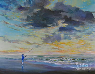 Surf Fishing Art Print by AnnaJo Vahle