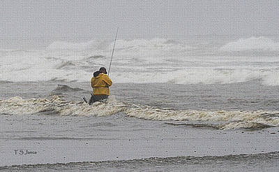 Fishing Enthusiast Photograph - Surf Fishing Enthusiast by Tom Janca