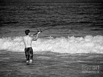 Photograph - Surf Fishing by Mark Miller