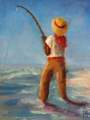 Painting - Surf Fishing by Sarah Barnaby