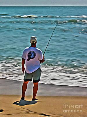 Photograph - Surf Fishing by Scott Hervieux
