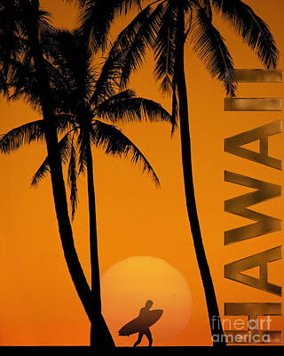 Farm Life Paintings Rob Moline - Surf Hawaii by Edmund Nagele