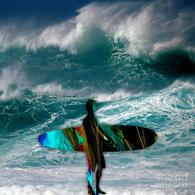 Mixed Media - Surf by Marvin Blaine