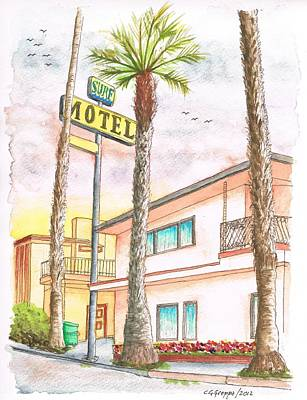 Pismo Beach Painting - Surf Motel In Pismo Beach-ca by Carlos G Groppa