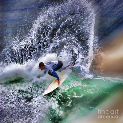 Kelly Slater Photograph - Surf N Spray by RJ Aguilar
