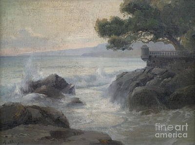Orthodox Painting - Surf On A Rocky Coast by Celestial Images