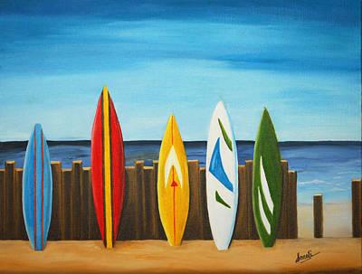 Surf On Art Print