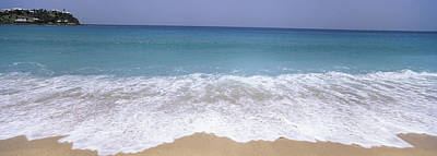 Antigua Photograph - Surf On The Beach, Antigua, Antigua by Panoramic Images