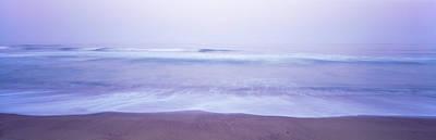Surf On The Beach At Dawn, Point Arena Art Print by Panoramic Images