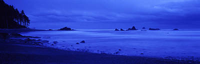 Olympic National Park Photograph - Surf On The Beach, Ruby Beach, Olympic by Panoramic Images