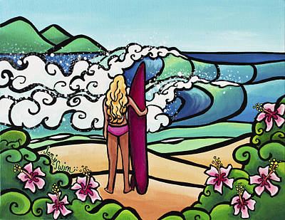 Surfer Girl Painting - Surf Perspective by Jamie Swim
