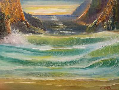Painting - Surf by Remegio Onia