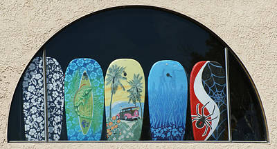 Photograph - Surf Shop Window by Ernie Echols