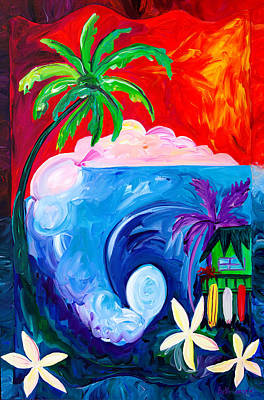 Polynesian Painting - Surf Spot by Beth Cooper