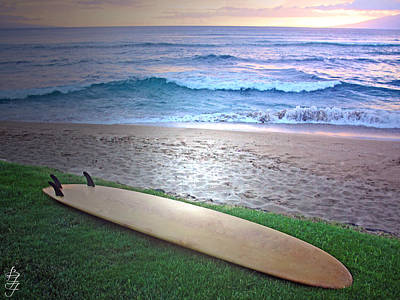 Photograph - Surf The Hawaiian Sunset by Brooke Fuller