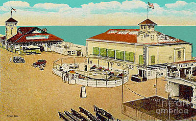 Surf Theatre And Seaview Pavilion At Salisbury Beach Ma 1937 Art Print