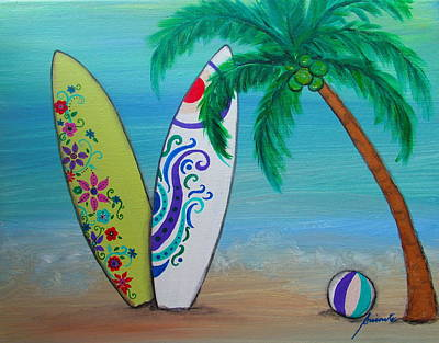 Painting - Surf Time I by Pristine Cartera Turkus