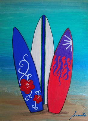 Painting - Surf Time II by Pristine Cartera Turkus