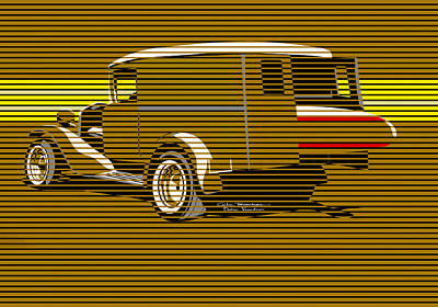 Painting - Surf Truck Golden Sand by MOTORVATE STUDIO Colin Tresadern