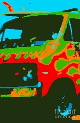 Etc. Digital Art - Surf Waggon IIi by James Eye