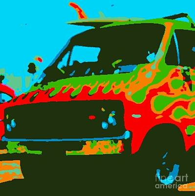 Surf Wagon Art Print by James Eye