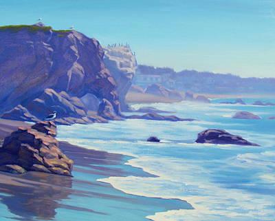 Surf Watchers Art Print by Elena Roche