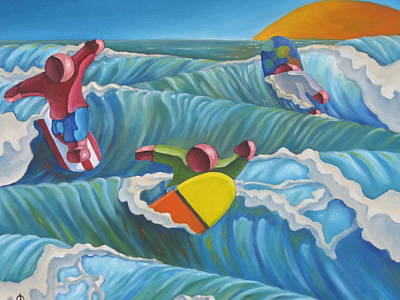 Painting - Surf Zone by Olivier Longuet