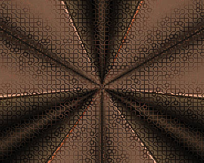 Digital Art - Abstract Metal Mesh 2 by Judi Suni Hall