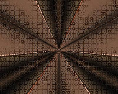 Digital Art - Abstract Metal Mesh 2 by Judi Suni Hall