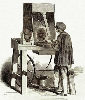 Surface Finishing Machine Art Print by Sheila Terry