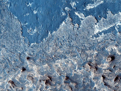 Galaxies Photograph - Surface Of Crater Ejecta In Meridiani Planum In Mars by Celestial Images
