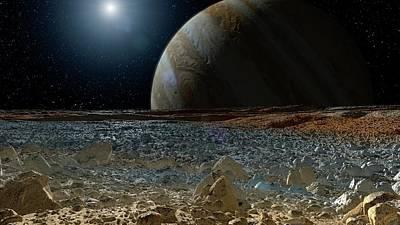 Surface Of Europa Art Print by Nasa