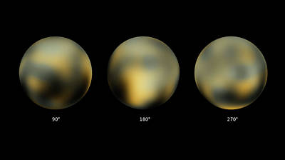Trio Photograph - Surface Of Pluto by Nasa/esa/stsci
