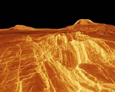 Synthetic Aperture Radar Photograph - Surface Of Venus by Nasa/jpl