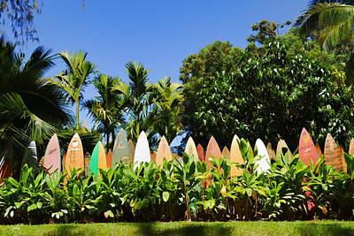Photograph - Surfboard Fence - Left Side by Paulette B Wright