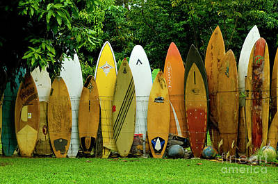 Photograph - Surfboard Fence Maui by Bob Christopher