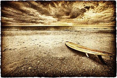 Dream Photograph - Surfboard On The Beach 2 by Skip Nall