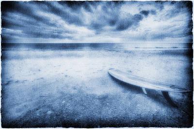 Surfboard On The Beach Art Print by Skip Nall
