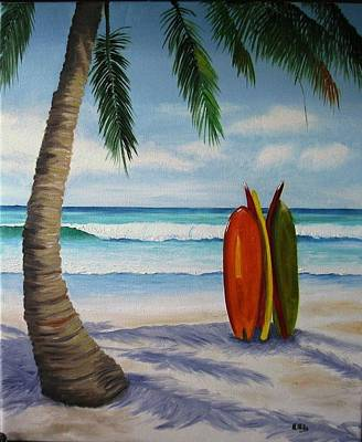 Painting - Surfboards by Maria Mills
