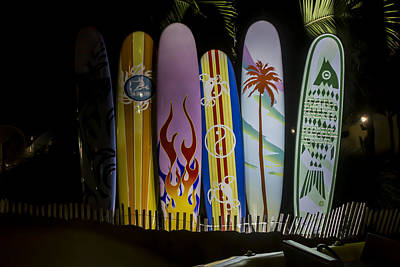 Digital Art - Surfboards by Photographic Art by Russel Ray Photos