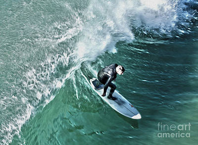 Painting - Surfer - 01 by Gregory Dyer