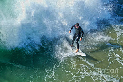 Painting - Surfer - 06 by Gregory Dyer