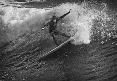 Photograph - Surfer 1 Bw by Morgan Wright