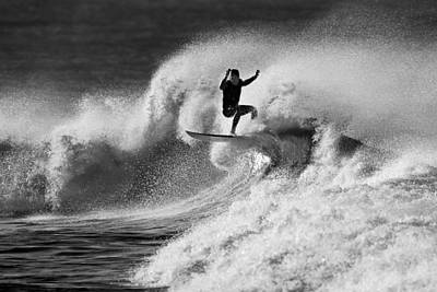 Photograph - Surfer Airborne  C6j3356 by David Orias