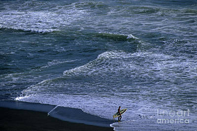 Photograph - Surfer Along Shoreline by Jim Corwin