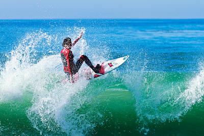 Photograph - Surfer At Carlsbad by Ben Graham