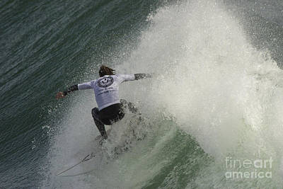 Photograph - Surfer At Cold Water Classic 2 by Morgan Wright