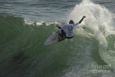 Photograph - Surfer At Cold Water Classic by Morgan Wright