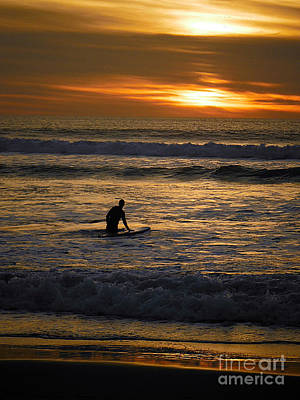 Florida Photograph - Surfer At Sunset by April Antonia